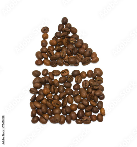 Wall Murals Coffee beans House of coffee beans