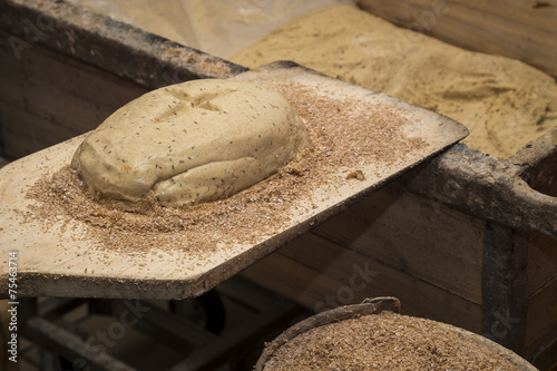 Deurstickers Oost Europa Baking Natural Rye Bread