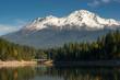 Mt Shasta Reflection Mountain Lake Modest Bridge California