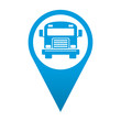 Icono localizacion autobus frontal