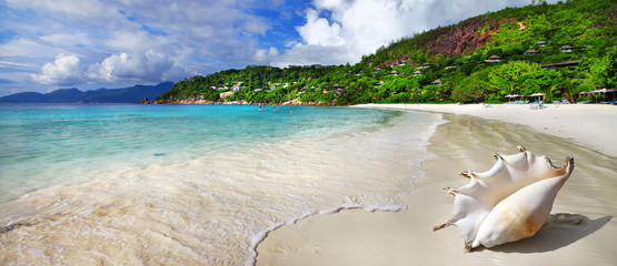 Fototapetachill out in tropical islands. Seychelles