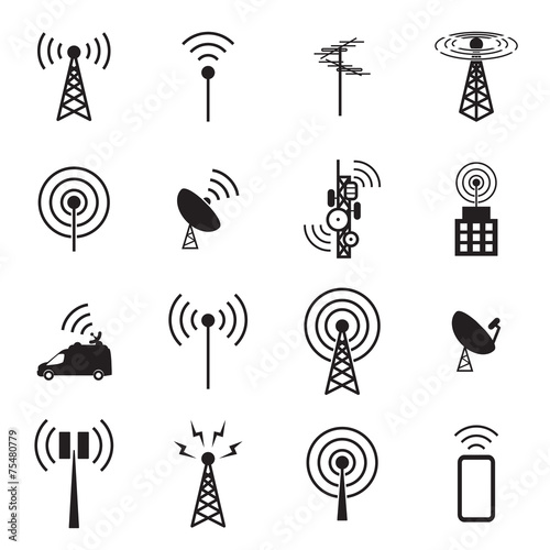 Fotografie, Tablou  Antenna icon set