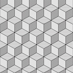 Fototapeta Cube background, line design, seamless pattern