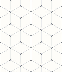 Fototapeta Geometric background, seamless pattern, hexagon