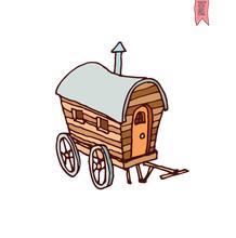 Horse Carriage Wagon Icon, Vec...