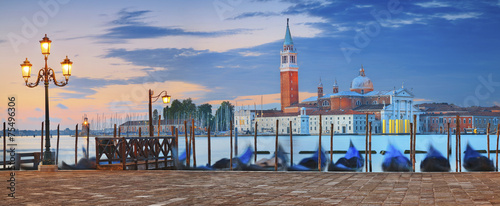 Stickers pour porte Venise Venice Panorama.