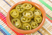 Jalapenos - Pickled Sliced Jalapeno Chillies In A Bowl