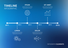 Vector Timeline Infographic Wi...