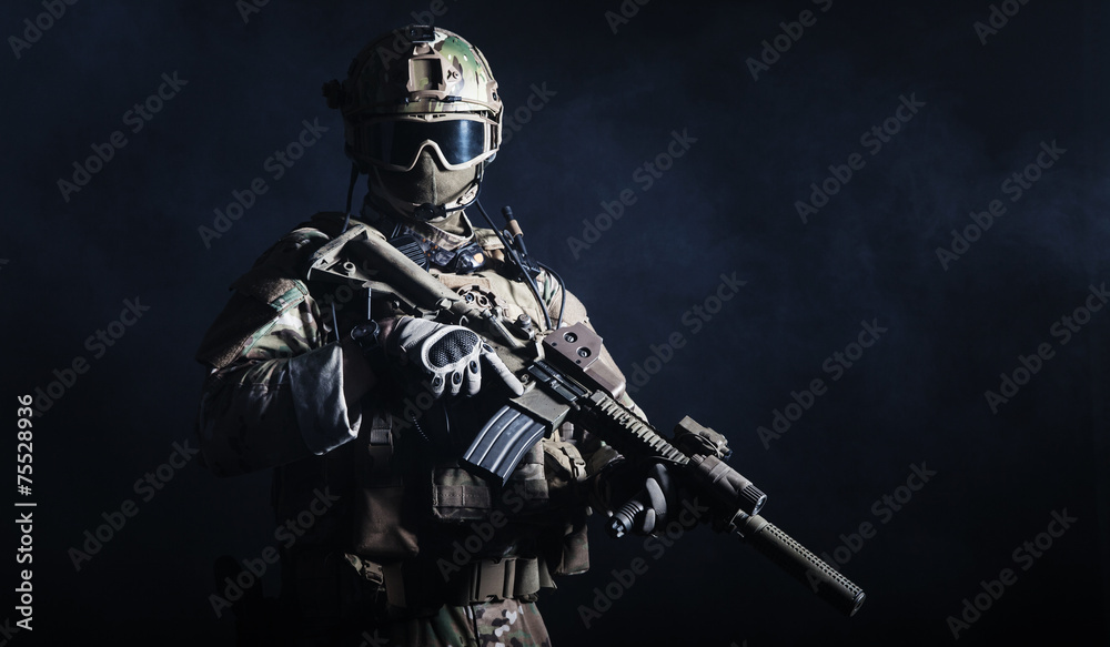 Fototapety, obrazy: Special forces soldier