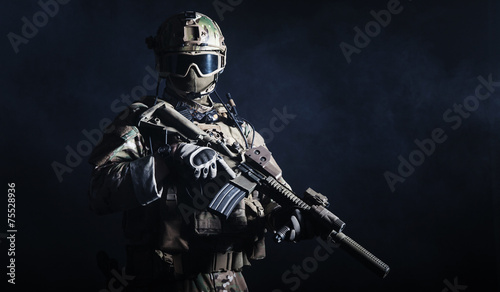 Fotografiet  Special forces soldier