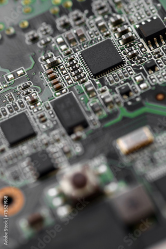 Keuken foto achterwand Macrofotografie Electronic micro circuit