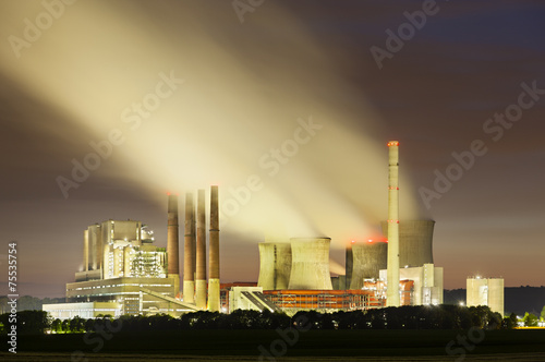 Fototapeten New York Power Station At Night