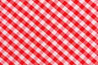 canvas print picture - Red and white checkered tablecloth