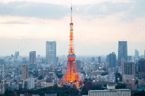 Poster Tokyo TOKYO - October 11: Tokyo Tower on October 11, 2013 in Tokyo. It