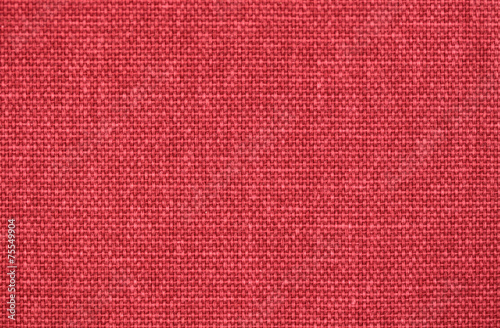 Foto op Canvas Stof Red linen fabric texture background