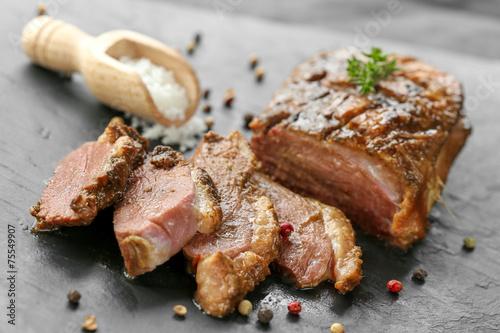 Deurstickers Klaar gerecht magret de canard cuit 6