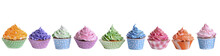 Delicious Cupcakes Isolated On...