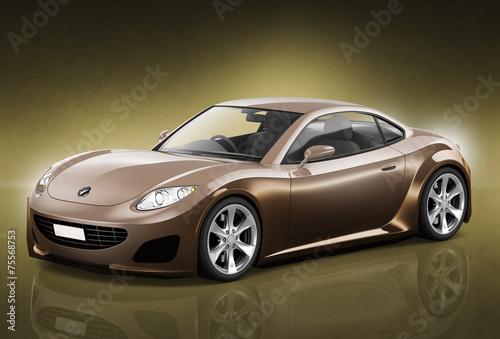 Comtemporary Car Elegance Vehicle Transportation Luxury
