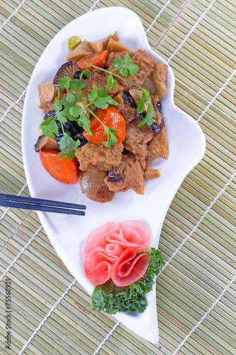 Chinese cuisine Fried Tofu Dish Wallpaper Mural