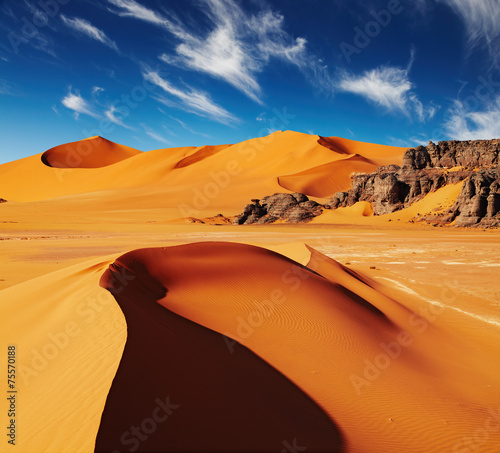 Poster de jardin Desert de sable Sahara Desert, Algeria