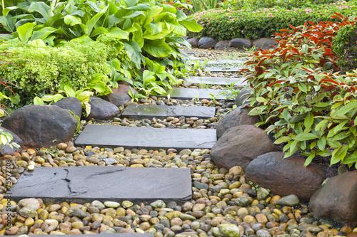 Obraz na plátně  Stone walkway