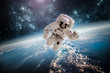 Astronaut outer spac Elements of this image furnished by NASA.