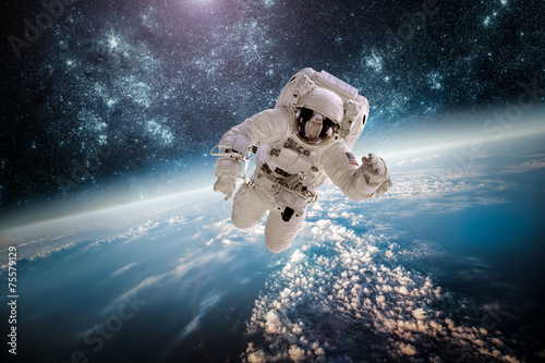 Deurstickers Nasa Astronaut outer spac Elements of this image furnished by NASA.
