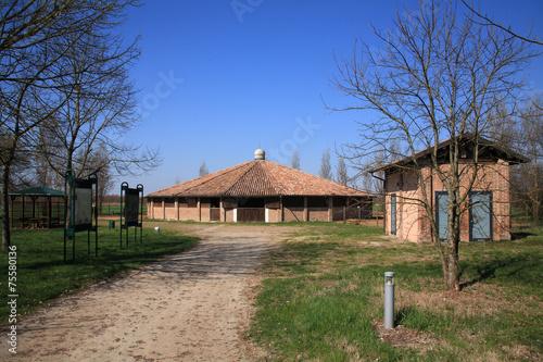 Fotografie, Obraz  Barchessone ricovero Cavalli Valli di Mirandola