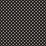 Dachówka wektor wzór białe kropki na czarnym tle - 75582992