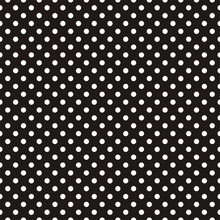 Tile Vector Pattern White Polka Dots On Black Background