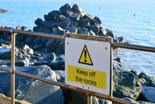 Keep Off Rocks Sign