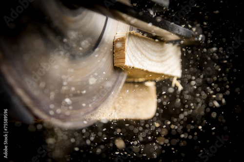 Fotografering Carpenter with Circular Saw