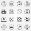 Vector set of car service symbols and badges