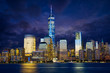 Lower Manhattan skyline at twilight, New York