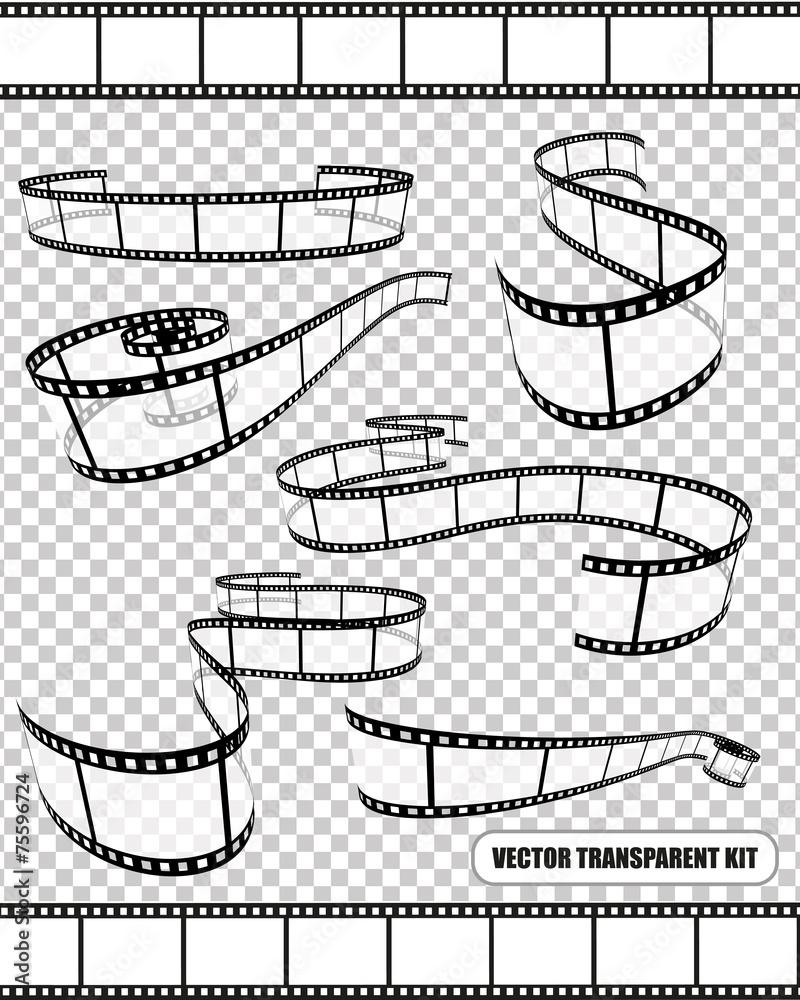 Fototapeta Vector film rolls kit