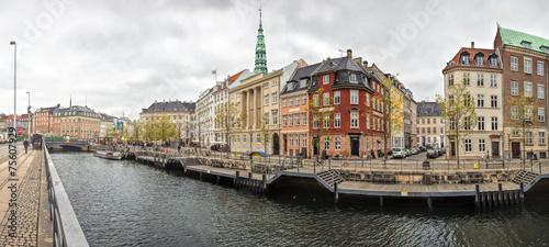 Photo  Old Town of Copenhagen landscape, Denmark.
