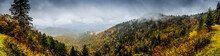 Panorama Of Mountains In Fall ...