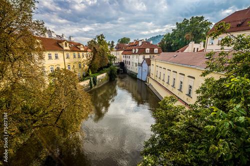 Photo  Autumn in Prague. Czech Republic. Toning.