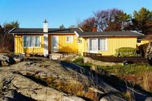 Yellow Cottage On The Coast