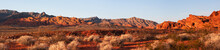 Early Morning Light Panorama In Valley Of Fire