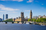Fototapeta Londyn - The Palace of Westminster Big Ben at night, London, England, UK