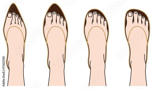 Fotografia  靴の形と足