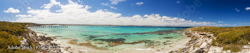 Foto op Canvas Australië Panorama of Vivonne Bay on Kangaroo Island, South Australia