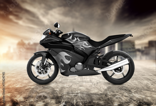 Poster Motorcycle Motorcycle Motorbike Bike Riding Rider Contemporary Concept