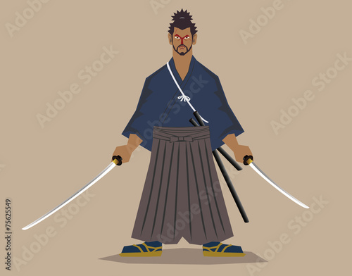 Obraz na plátně Master fencer(Miyamoto,Musashi)