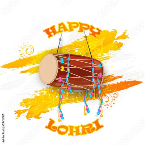 Fotografia, Obraz  Punjabi festival, Happy Lohri celebration with decorated drum.