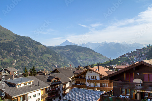 Foto op Aluminium Napels Typical Alpine Village, Zermatt, Switzerland