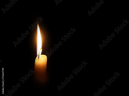 Fotografie, Obraz  candle