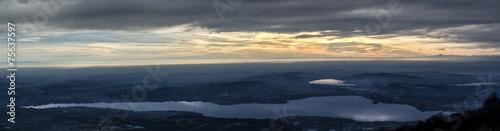 Foto op Aluminium Nachtblauw Lake of Varese, landscape at sunset