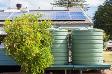 Water Tank And Solar Panels